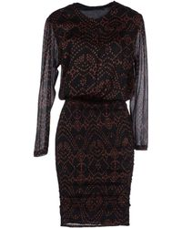 Antik Batik Black Kneelength Dress - Lyst