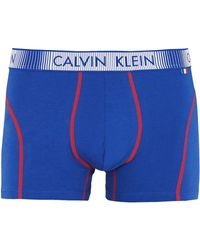 Calvin Klein Euro France Flag Branded Waistband Trunk Navy - Lyst