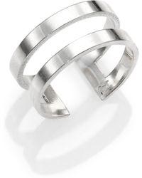 Jennifer Zeuner Jewelry Yvette Sterling Silver Two-Band Midi Ring - Lyst