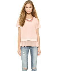 Madison Marcus - Delilah Layered Tee - Lyst