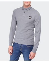 Stone Island Long Sleeve Polo Shirt - Lyst