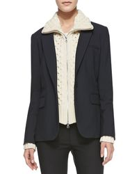 Veronica Beard Classic Suiting Onebutton Jacket - Lyst