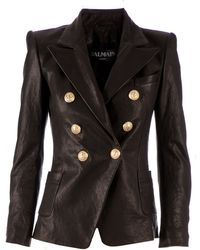 Balmain Double Breasted Jacket - Lyst