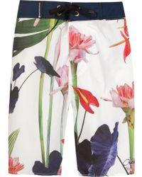 Osklen Floral Print Shorts - Lyst