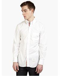 Thom Browne Men'S White Cotton Shirt - Lyst