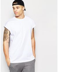 ASOS | Longline T-shirt In Oversized Fit In White | Lyst