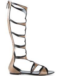 Casadei Mid-Calf Gladiator Sandals - Lyst