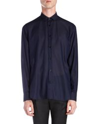 Saint Laurent Striped Voile Shirt - Lyst