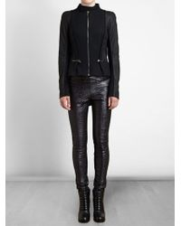 Haider Ackermann Leather and Wool Bomber Jacket - Lyst