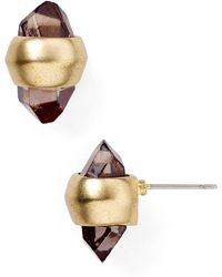 T Tahari - Double Spike Stud Earrings - Lyst