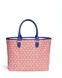 Mischa - 'shopper' Hexagon Print Coated Canvas Tote - Lyst