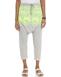 Surf Bazaar - Embroidered Harem Trousers - Earth/plankton - Lyst