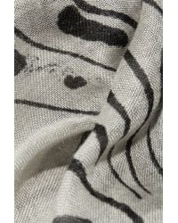 Horiyoshi The Third Koi Printed Silk and Cashmereblend Scarf - Lyst
