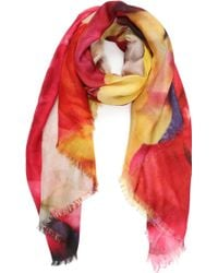 Nicole Miller Rose Me Up Scarf - Lyst