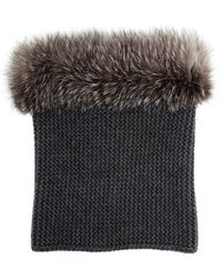 Inverni Cashmere and Fox Fur Circle Scarf - Lyst