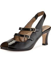 Anyi Lu Toni Patent Slingback Sandal - Lyst