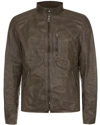 Ralph Lauren Black Label Unlined Leather Jacket - Lyst