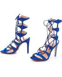 Schutz Erlene Lace Up Sandals - Lyst
