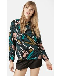Topshop Floral Print Sweater - Lyst