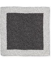 Oscar de la Renta Heart-Print Silk Square Scarf - Lyst