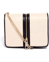 Asos Cross Body Bag with Nude Panel - Lyst