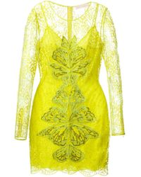 Matthew Williamson Floral Embroidered Dress - Lyst