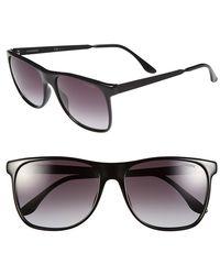 Carrera 57Mm Retro Sunglasses - Shiny Black - Lyst
