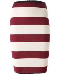 Forte Forte Striped Pencil Skirt - Lyst