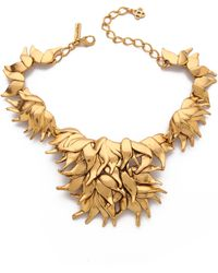 Oscar de la Renta Leaf Necklace - Russian Gold - Lyst
