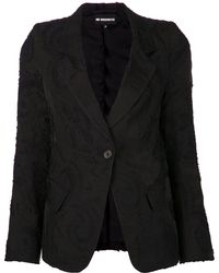 Ann Demeulemeester Black Embroidered Jacket - Lyst