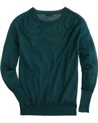 J.Crew Collection Featherweight Cashmere Rib-Trim Sweater green - Lyst