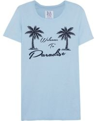 Zoe Karssen Welcome To Paradise Printed Cotton And Modal-Blend T-Shirt - Lyst