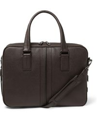 Tod's - Cross-Grain Leather Briefcase - Lyst