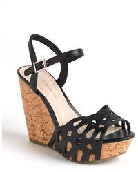 BCBGeneration - Paulina Leather Platform Wedge Sandals - Lyst