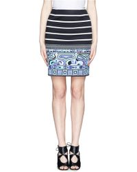 Emilio Pucci Stripe Butterfly Print Skirt - Lyst