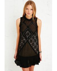 Free People - Angel Lace Cutout Back Dress - Lyst