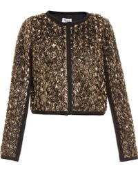 Alice By Temperley Donna Gold Rose Bomber gold - Lyst