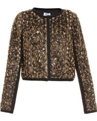 Alice By Temperley | Donna Gold Rose Bomber | Lyst