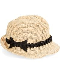 Kate Spade Packable Straw Fedora - Lyst