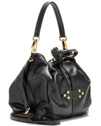 Miu Miu Leather Bucket Bag - Lyst