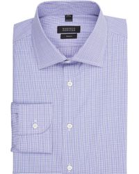 Barneys New York Plaid Poplin Shirt - Lyst