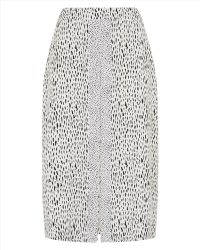 Jaeger Dot Dash Print Skirt - Lyst