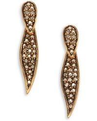Oscar de la Renta PavÉ Crystal Spike Earrings - Lyst