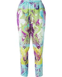 Emilio Pucci Printed Tapered Trousers - Lyst