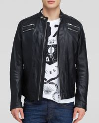 Diesel Neilor Buffalo Leather Jacket - Lyst