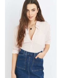 BDG - Slouchy Herringbone Button-down Shirt - Lyst