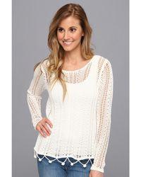 RVCA Home Again Crochet Sweater - Lyst