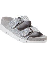 Ash Takoon Platform Sandal Light Silver Glitter - Lyst