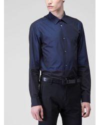 Costume National Blueblack Button Down - Lyst