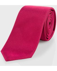Paul Smith Red Narrow Silk Tie - Lyst